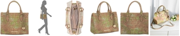 Brahmin Anywhere Convertible Melbourne Atlas Embossed Leather Satchel, Created for Macy's