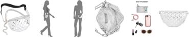 Steve Madden Convertible Chrome Patent Belt Bag