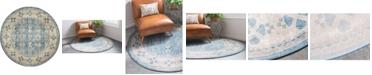 Bridgeport Home Bellmere Bel1 Light Blue 4' x 4' Round Area Rug