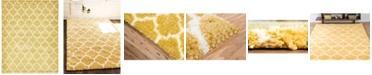Bridgeport Home Fazil Shag Faz4 Yellow 9' x 12' Area Rug