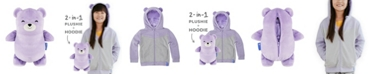 Cubcoats Toddler and Big Girls Bori The Bear 2-in-1 Stuffed Animal Hoodie