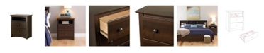 Prepac Fremont Tall 2-Drawer Nightstand with Open Shelf
