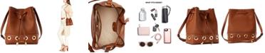 Lauren Ralph Lauren Mini Debby Grommet Leather Drawstring