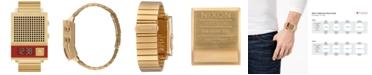 Nixon Unisex Digital Dork Too Gold-Tone Stainless Steel Bracelet Watch 34mm