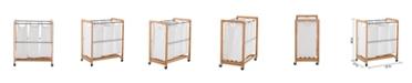 TRINITY Ecostorage 3 Bag Bamboo Laundry Cart