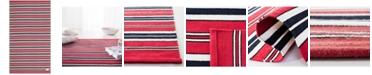 Lauren Ralph Lauren Leopold Stripe LRL2462E Red 4' X 6' Area Rug