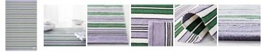 Lauren Ralph Lauren Leopold Stripe LRL2462G Lilac 4' X 6' Area Rug