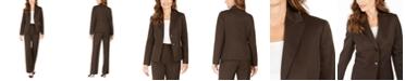 Le Suit Pinstriped Pants Suit