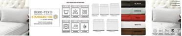 Color Sense Damask Stripe Sateen Stripe Sheet Set- King