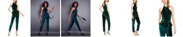RACHEL Rachel Roy Harland Open-Back Velvet Jumpsuit