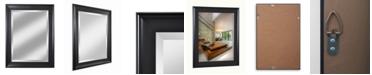 "Reveal Frame & Decor Alpine Symphony 21"" x 27"" Black Beveled Wall Mirror"