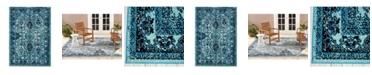 Nicole Miller  Patio Starlight Myrtle Blue Area Rug Collection
