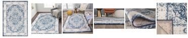 "Main Street Rugs Home Lyon Lyn830 Blue 7'10"" x 10' Area Rug"