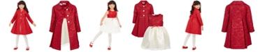 Blueberi Boulevard Toddler Girls 2-Pc. Brocade Coat & Dress Set