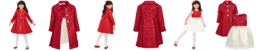 Blueberi Boulevard Blueberri Boulevard Little Girls 2-Pc. Brocade Coat & Dress Set