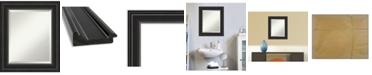 "Amanti Art Ridge Framed Bathroom Vanity Wall Mirror, 21.75"" x 25.75"""