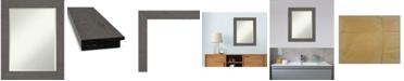 "Amanti Art Rustic Plank Framed Bathroom Vanity Wall Mirror, 23.38"" x 29.38"""