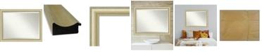 "Amanti Art Textured Light Gold-tone Framed Bathroom Vanity Wall Mirror, 45"" x 35"""
