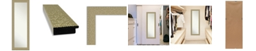 "Amanti Art Mosaic Gold-tone on The Door Full Length Mirror, 18.25"" x 52.25"""