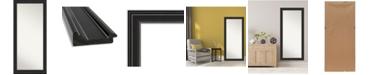 """Amanti Art Ridge Framed Floor/Leaner Full Length Mirror, 29.75"""" x 65.75"""""""