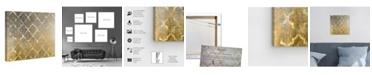"""Oliver Gal Arabesque Platinum Canvas Art, 12"""" x 12"""""""