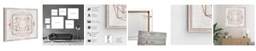 "Oliver Gal Whitewash Wood Geometric Octagon Canvas Art, 36"" x 36"""