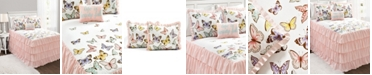 Lush Decor Flutter Butterfly 4-Piece Full Bedspread Set
