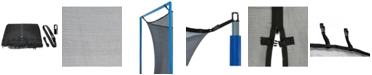 Upperbounce Trampoline Replacement Enclosure Net, Fits for 10' Round Frames (All brands), Works with multiple amount of poles - Pole Caps Included