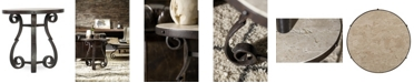Hooker Furniture Luckenbach Metal and Stone End Table