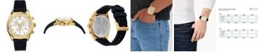 Versace Men's Swiss V-Chrono Black Silicone Strap Watch 44mm