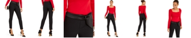 INC International Concepts INC Bow-Detailed Tapered Ankle Pants, Created For Macy's