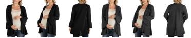 24seven Comfort Apparel Cozy Bell Sleeve Women's Cardigan