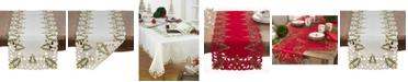 Saro Lifestyle Christmas Trees Holiday Table Runner