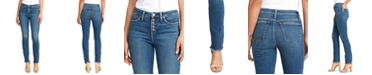 Silver Jeans Co. High Note Slim-Leg Ankle Ripped Jean