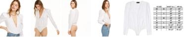 Danielle Bernstein Deep V-Neck Bodysuit, Created for Macy's