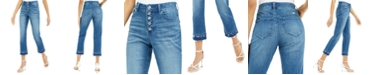 INC International Concepts INC Double-Hem Cropped Straight-Leg Jeans, Created for Macy's