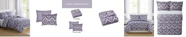 Pem America Tina Purple Twin 3-Pc. Comforter Set