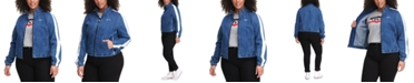 Levi's Trendy Plus Size Denim Coaches Track Jacket