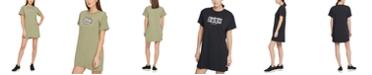 DKNY Sport Cotton Printed-Logo T-Shirt Dress