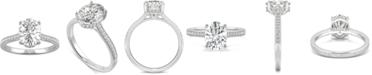 Charles & Colvard Moissanite Oval Engagement Ring (2-1/3 ct. t.w. DEW) in 14k White Gold
