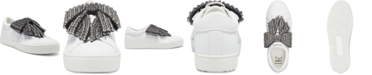 INC International Concepts I.N.C. Women's Danelia Rhinestone Bow Lace-Up Sneakers, Created for Macy's