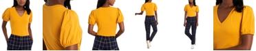 Riley & Rae Rae Puff-Sleeve V-Neck Top, Created for Macy's