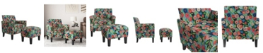 Handy Living Marquee Half Round Arm Chair and Ottoman Set