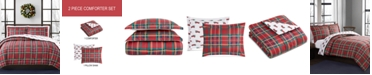 Pem America CLOSEOUT! Holiday Tartan 2-Pc. Reversible Twin Comforter Set, Created for Macy's