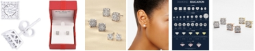 Macy's Diamond Cluster Stud Earrings (1/3 ct. t.w.) in 14k White Gold, Yellow Gold and Rose Gold