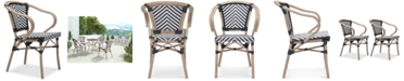 Zuo CLOSEOUT! Dalien Outdoor Dining Arm Chair (Set Of 2), Quick Ship