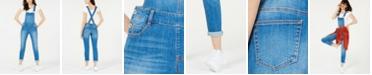 Dollhouse Juniors' Skinny Denim Overalls, Created for Macy's