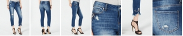 INC International Concepts INC Curvy-Fit Embellished Ripped Ankle Jeans, Created for Macy's