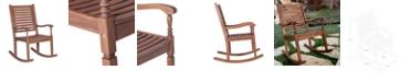 Walker Edison Solid Acacia Wood Outdoor Patio Rocking Chair