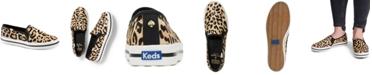 kate spade new york Women's Double Decker KS Leopard Pony Hair Sneakers